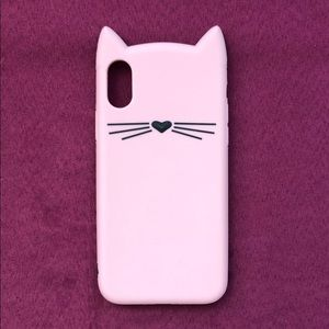 ✨ kate spade silicone iPhone X cat case